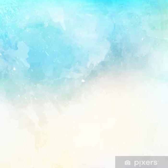 Vinyl-Fototapete Aquarell Textur Hintergrund - Grafische Elemente