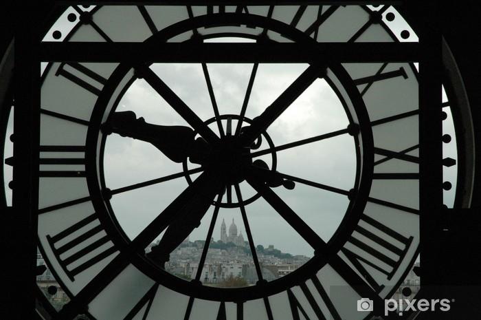 le sacré coeur et l'horloge Pixerstick Sticker - Clocks