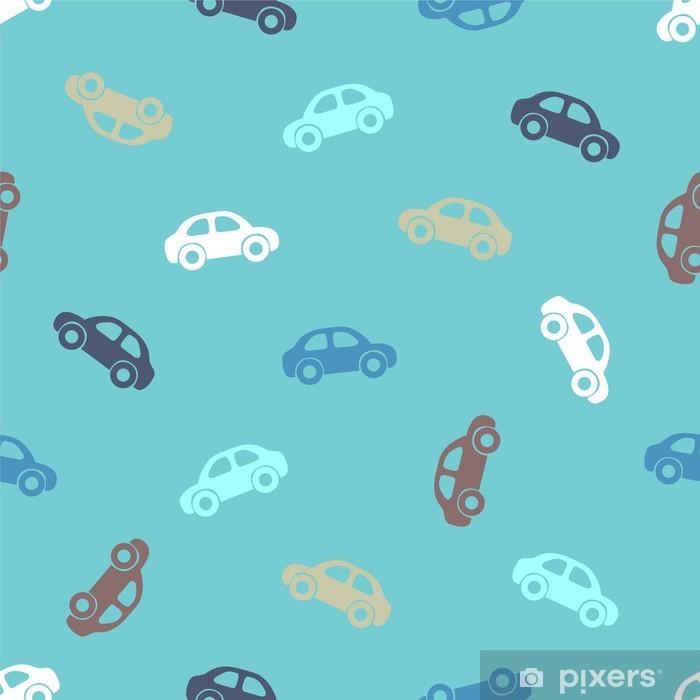 Papier peint vinyle Seamless pattern - voitures - Transports