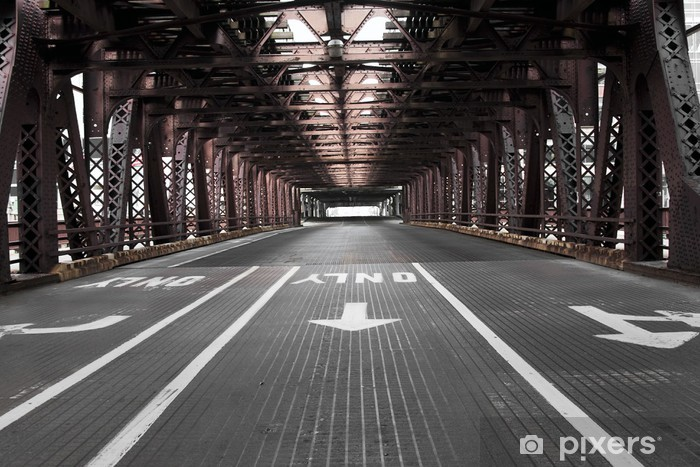 Chicago Bridge Vinyl Wall Mural - Themes