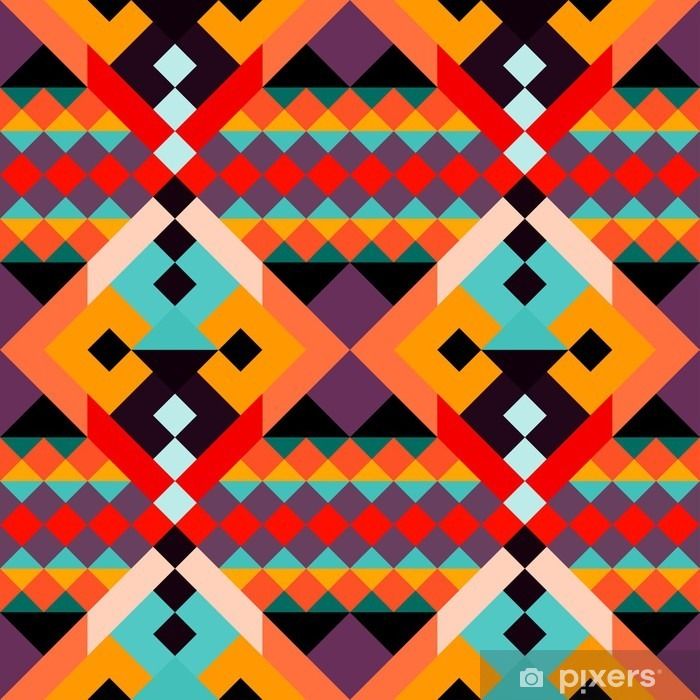 Plakat Kolorowe wielokąty geometryczne szwu - Zasoby graficzne