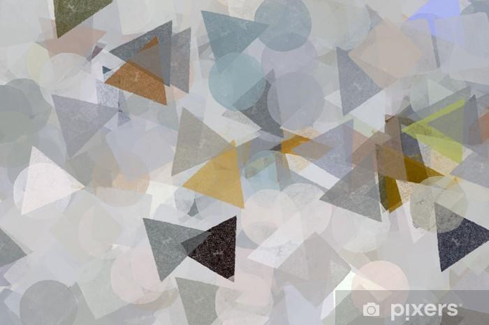 Naklejka Pixerstick Geometryczne kształty ilustracji. Posmaruj wzór malowania. - Tematy