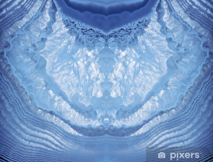 macro of light blue agate texture Vinyl Wall Mural - Graphic Resources