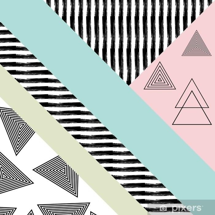 Pixerstick Sticker Abstract hand getekende geometrische patroon - Grafische Bronnen