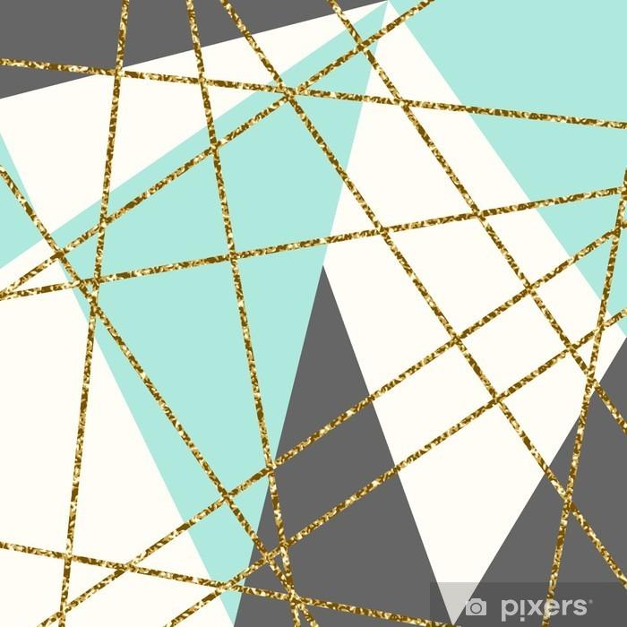 Pixerstick Sticker Abstracte Geometrische compositie. - Grafische Bronnen
