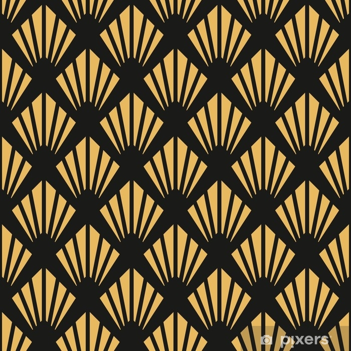 Art Deco seamless vintage wallpaper pattern Poster - Graphic Resources