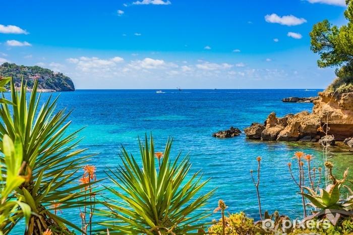 Fototapeta winylowa Sielankowy widok na Morze Śródziemne krajobraz nadmorski Majorka Hiszpania - Krajobrazy
