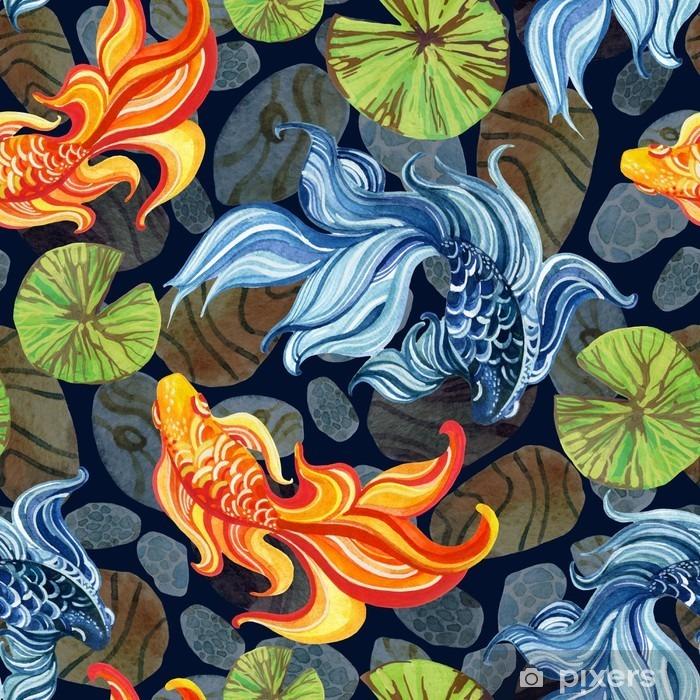 Naklejka Pixerstick Akwarela asian goldfishes - Zwierzęta