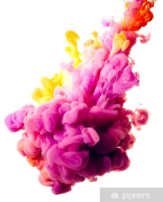 Fototapeta winylowa Splash farby na białym tle - Hobby i rozrywka