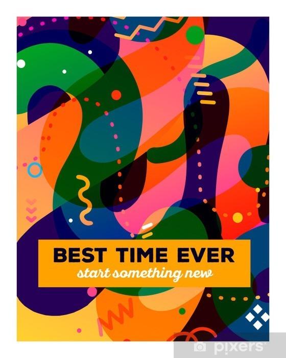 Papier peint vinyle Vector illustration de la composition abstraite colorée avec du texte o - Ressources graphiques