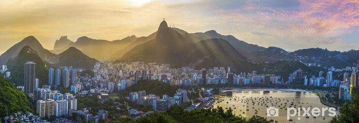 Panoramic View Of Rio De Janeiro Brazil Landscape Wall Mural