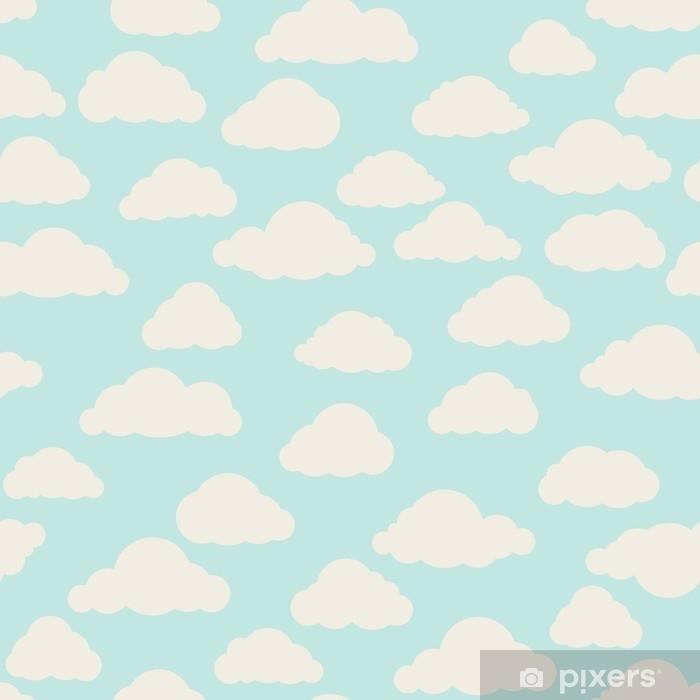 Plakat w ramie Chmura bez szwu deseń. pochmurne niebo backround natura ornament - Zasoby graficzne