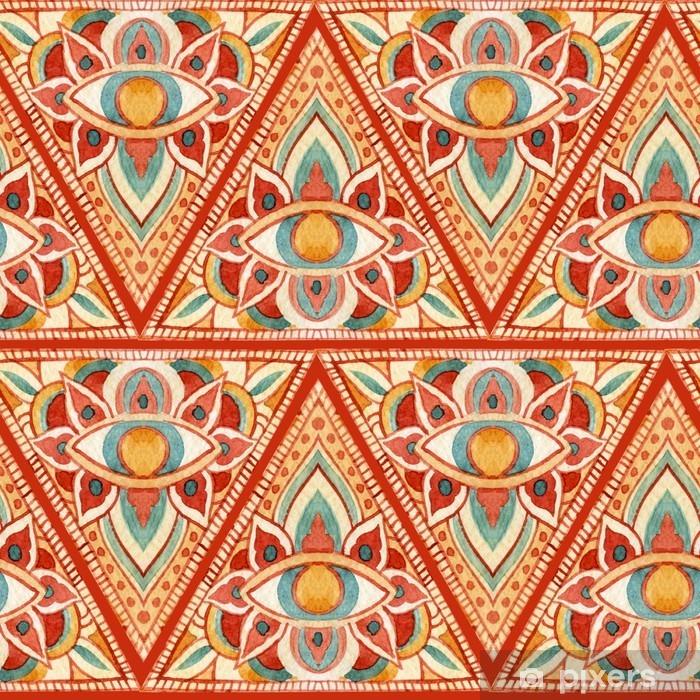 Sticker Pixerstick Abstrait aquarelle triangle sacré seamless - Ressources graphiques