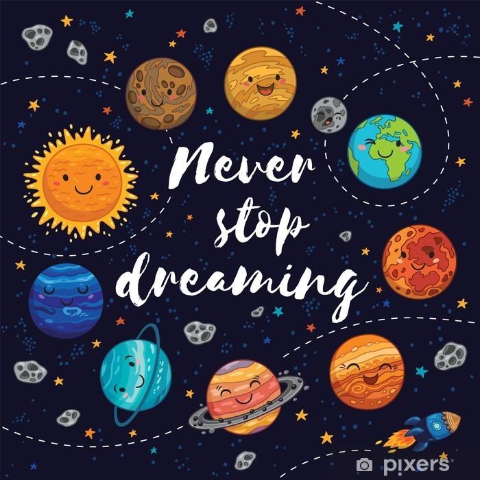 Fotomural Estándar Nunca dejes de soñar. ilustración vectorial motivación - Paisajes