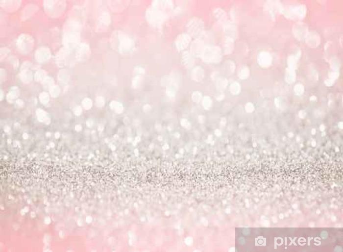 Rose Gold Glitter Bokeh Texture Background Wall Mural
