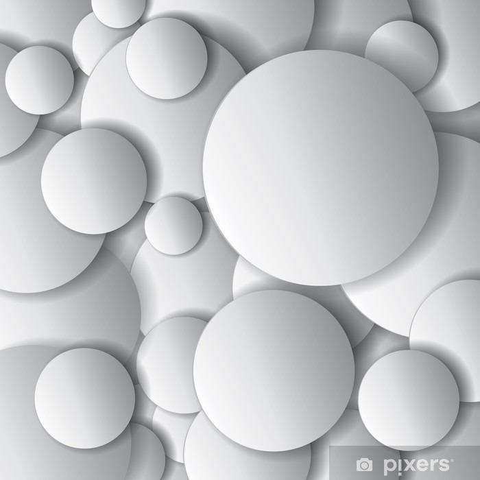 Pixerstick Sticker Vector cirkels, minimaal voorwerpen, abstract vector design compositie - Grafische Bronnen