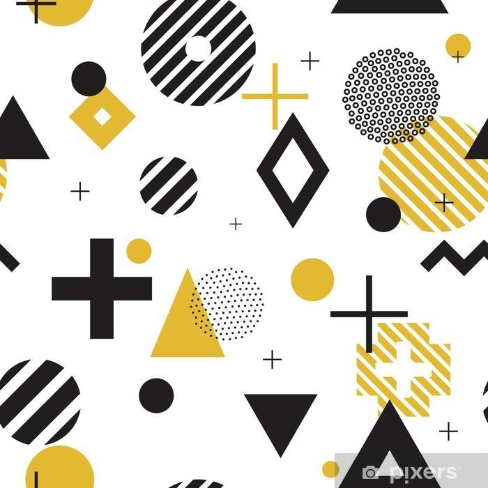 Papier peint vinyle Memphis style seamless - Ressources graphiques