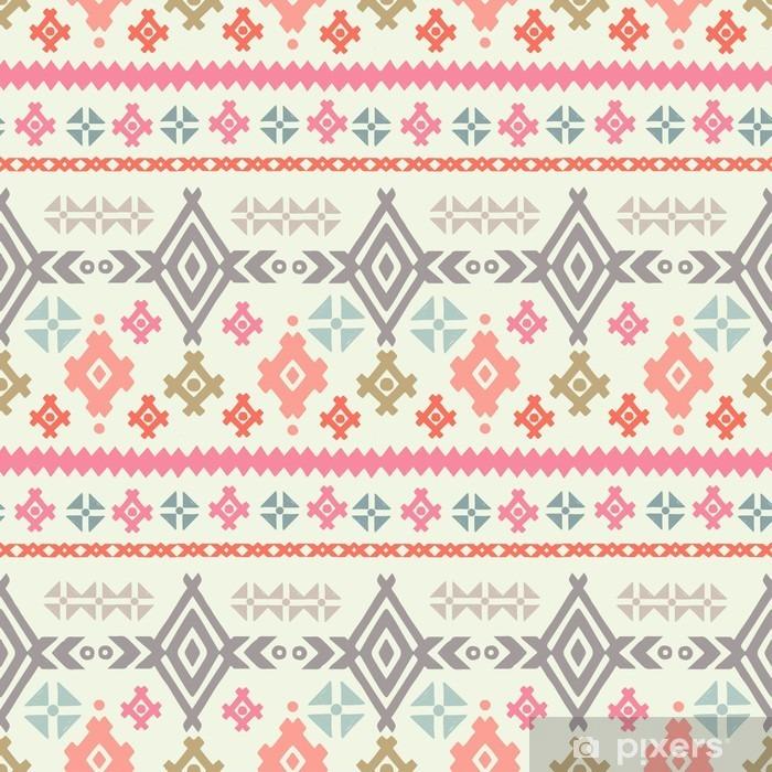 Afwasbaar Fotobehang Tribale kunst etnische boho naadloos patroon - Grafische Bronnen