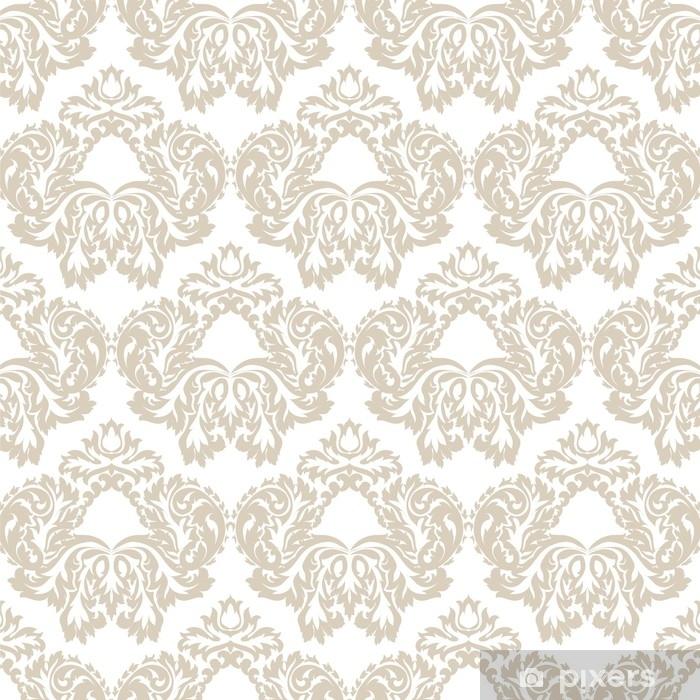Papier peint vinyle Modèle damassé floral vintage baroque de vecteur. ornement classique de luxe, texture victorienne royale pour le papier peint, textile, tissu. couleur grise - Ressources graphiques