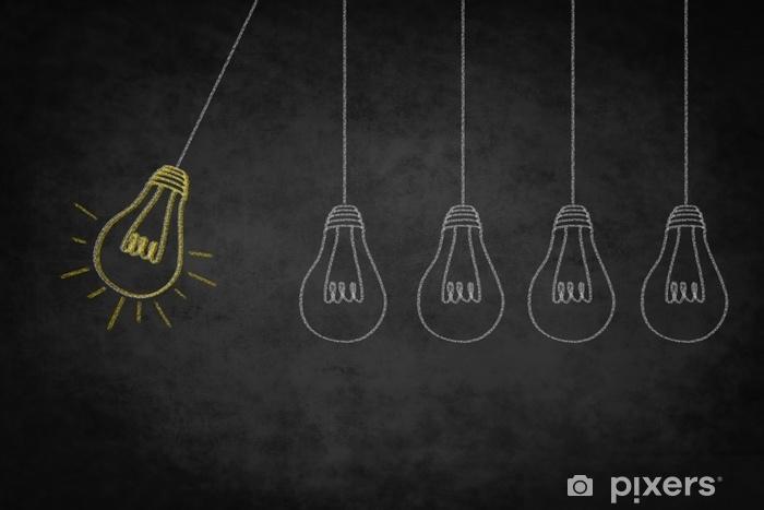 idea concept , creativity symbol - good idea illustration Pixerstick Sticker - Business