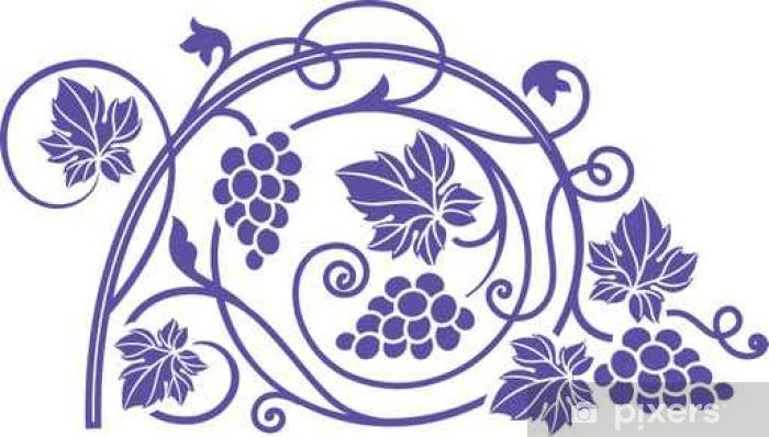 Papier peint vinyle Thème du vin élément de design avec des branches de vigne. - Boissons