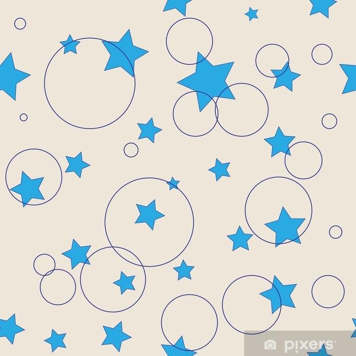 Vinylová fototapeta Hvězdy a kroužky bezešvé vzor - Vinylová fototapeta