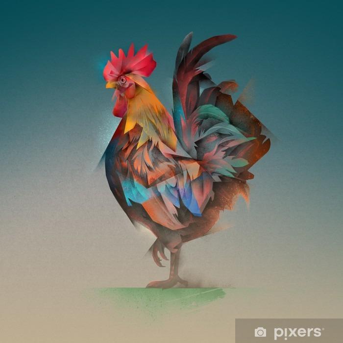 cock Pixerstick Sticker - Animals