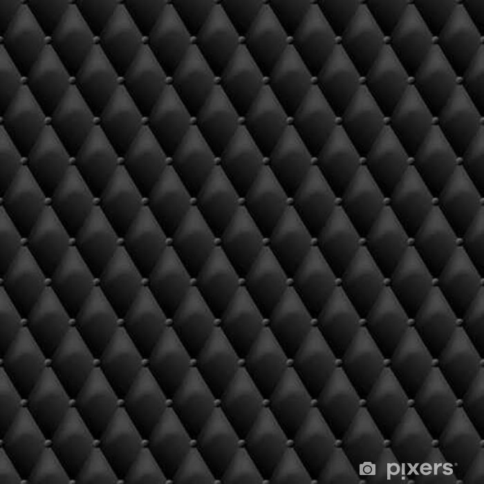 Seamless black leather texture  Vector leather background  Luxury textile  design, interior and furniture decoration concept  Wall Mural - Vinyl