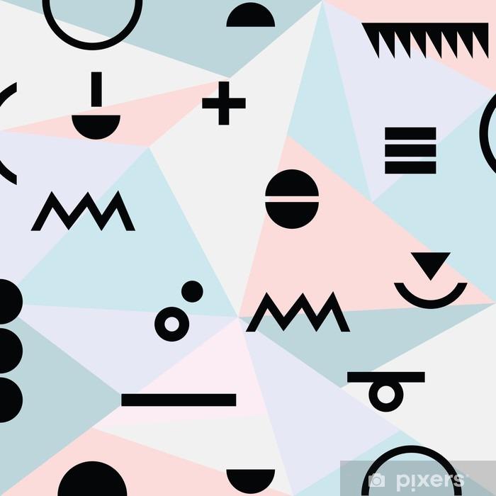 Vinilo Pixerstick Modelo moderno mínima geométrica abstracta material de referencia y símbolos negros - Recursos gráficos