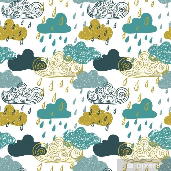 Fotomural Estándar Modelo inconsútil colorido de las nubes de lluvia. - Otoño