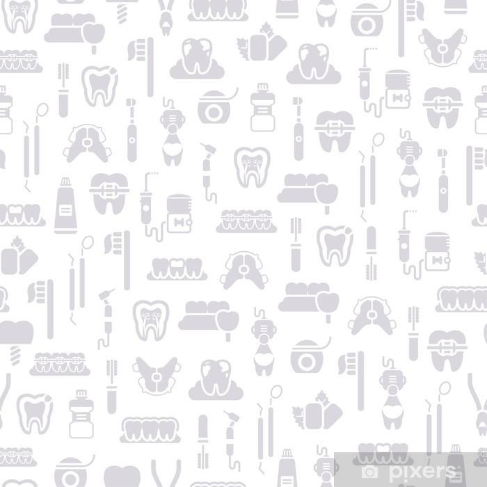 Fototapeta winylowa Jednolite wzór Dentysta Sprzęt, Szary White - Nauka