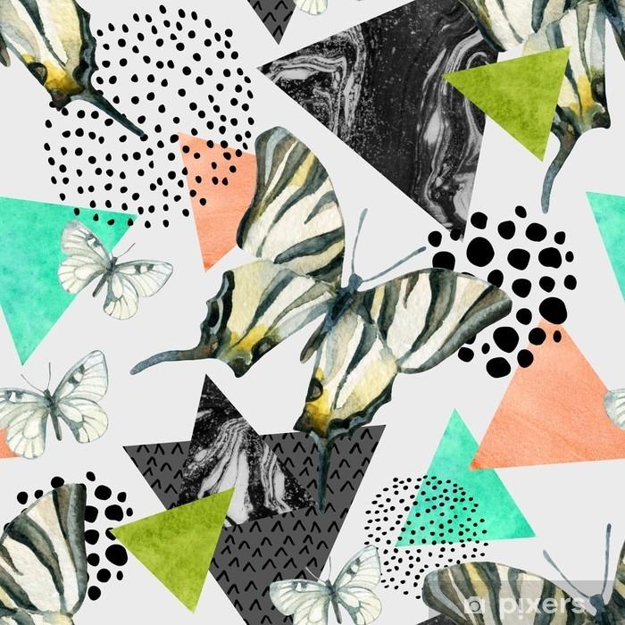 Papier peint vinyle Abstract seamless pattern géométrique naturel - Ressources graphiques