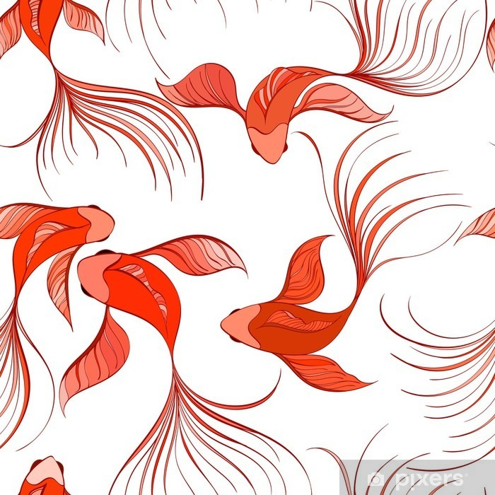 fish seamless pattern Vinyl Wall Mural - Graphic Resources
