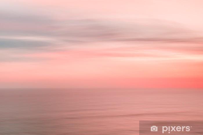 Sløret solnedgangshimmel og hav Vinyl fototapet - Landskaber