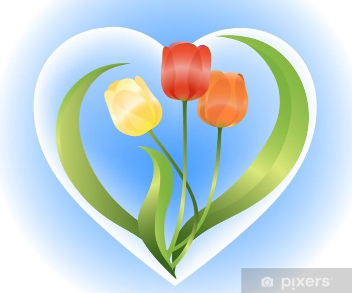 Poster Tulpen - Blumen