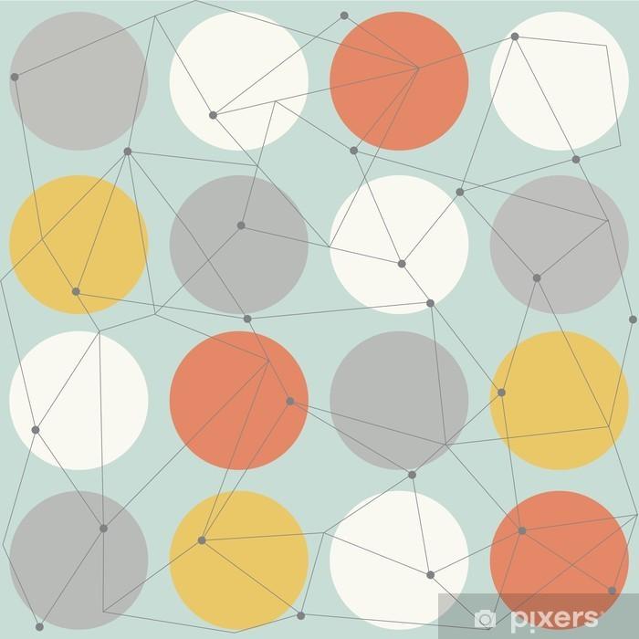 scandinavian geometric modern seamless pattern Pixerstick Sticker - Scandinavian