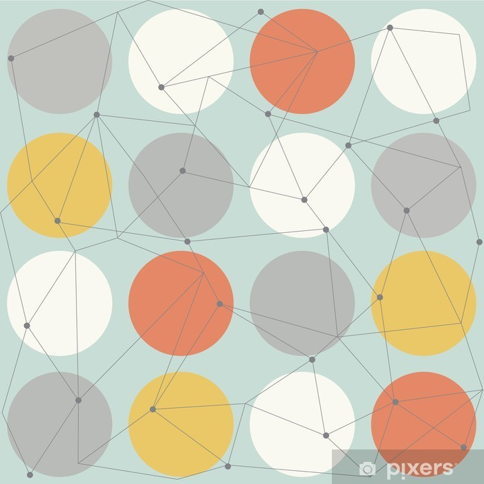 scandinavian geometric modern seamless pattern Vinyl Wall Mural - Scandinavian