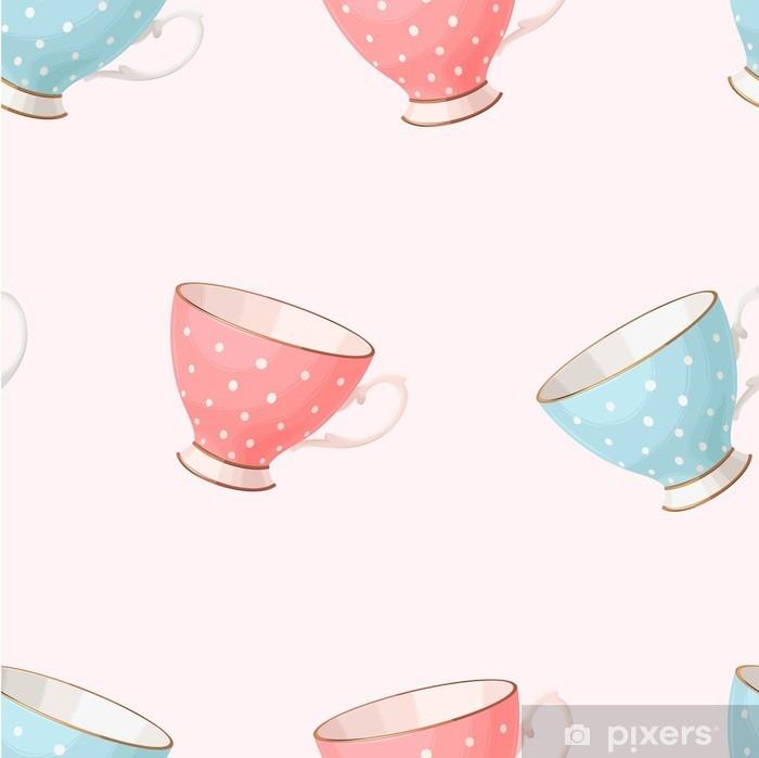 Pixerstick Sticker Naadloos uitstekend theekopjes - Drankjes