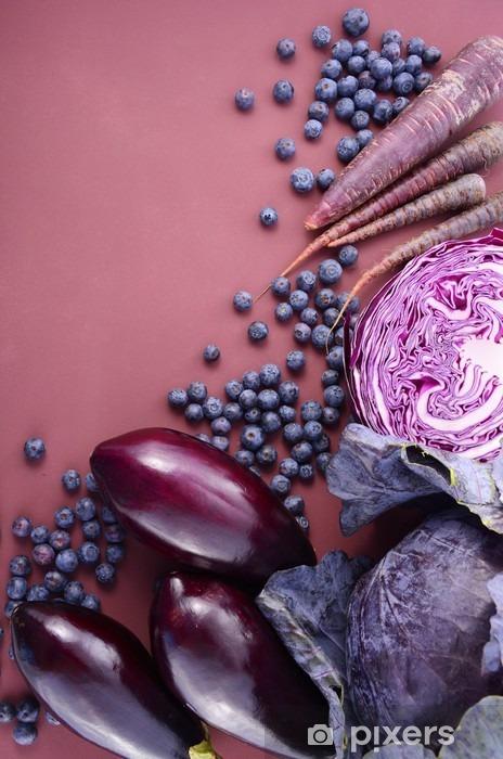 Fotomural Estándar Frutas y verduras de color púrpura - Comida