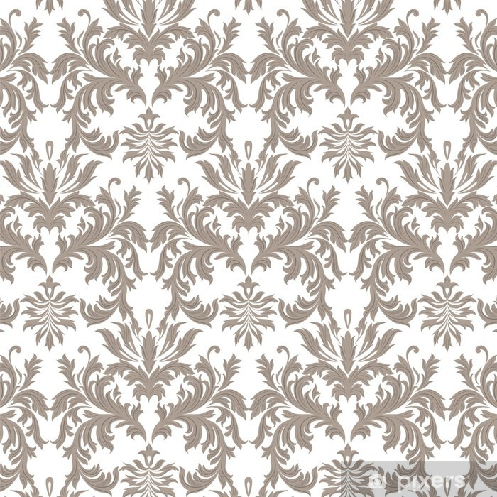 Vector Baroque Vintage Floral Damask Pattern Luxury Cl Ic Ornament Royal Victorian Texture For Wallpapers