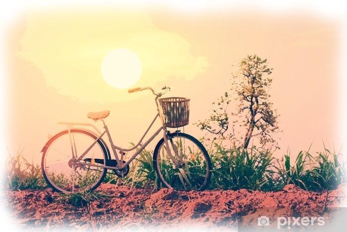 Fototapeta vinylová Akvarel malování krásné vintage kolo na poli s barevným  slunečním světlem  vintage styl filtru pro přání a pohlednici. 4af3e7bde6
