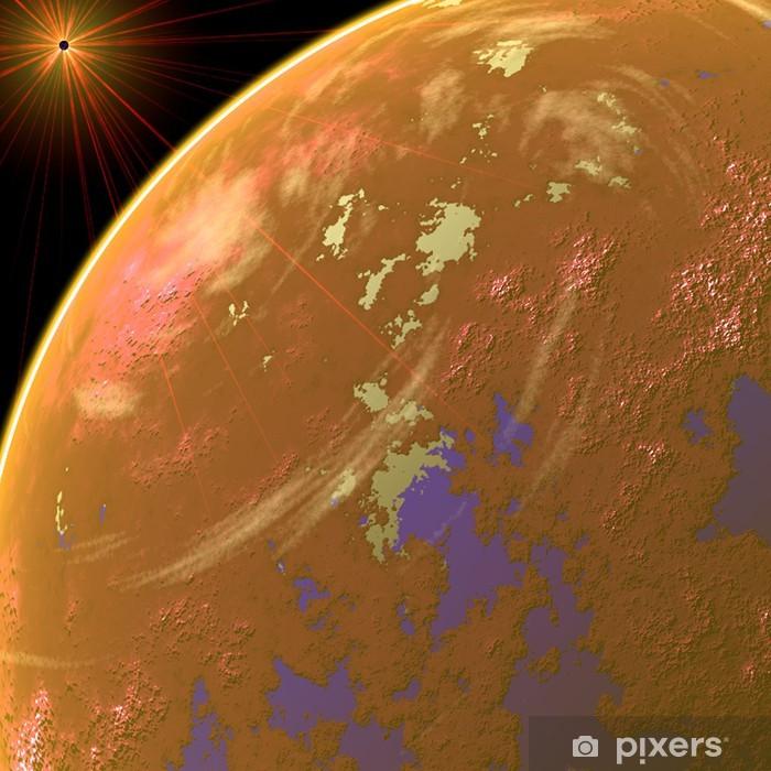 Naklejka Pixerstick Pomarańczowy planeta - Planety