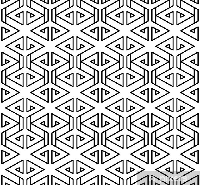 Abstract geometric black and white hipster fashion pillow pattern Pixerstick Sticker - Graphic Resources