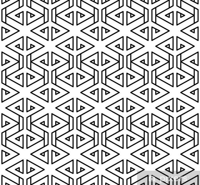 Pixerstick Sticker Abstract geometrische zwart en wit hipster fashion kussen patroon - Grafische Bronnen