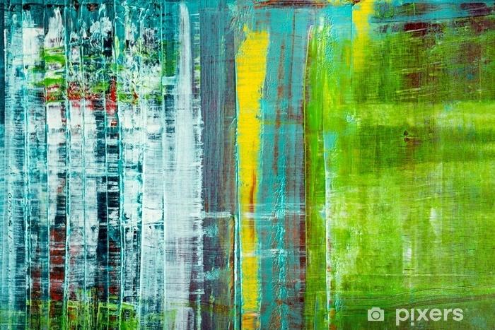 Fototapeta winylowa Abstrakcyjne płótno malowane. farby olejne na palecie. - Zasoby graficzne