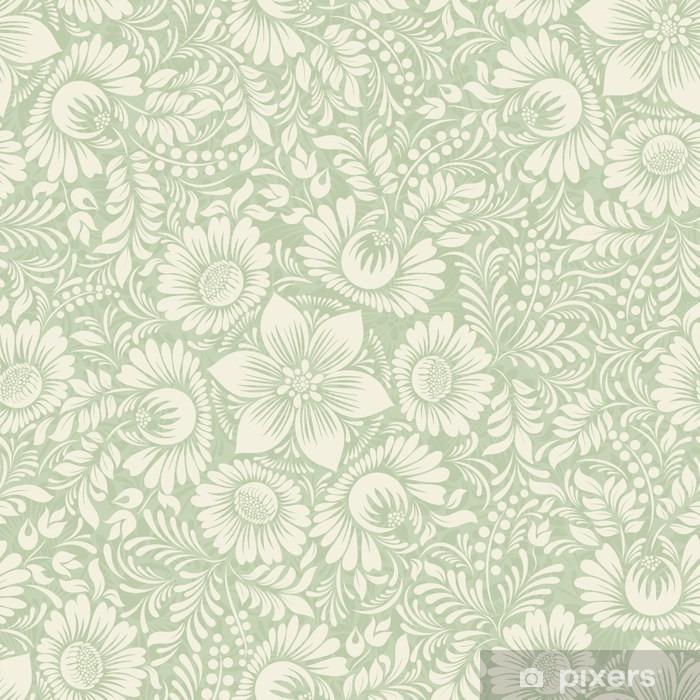 Fototapeta winylowa Jednolite tło w stylu folk kolorze zielonym - Zasoby graficzne