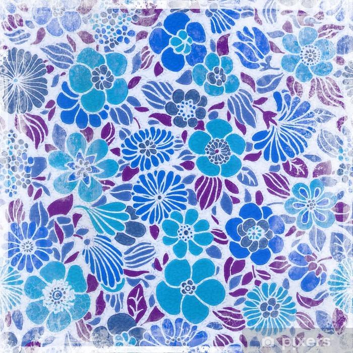 Sticker Pixerstick Rétro floral backgrond - Matières premières