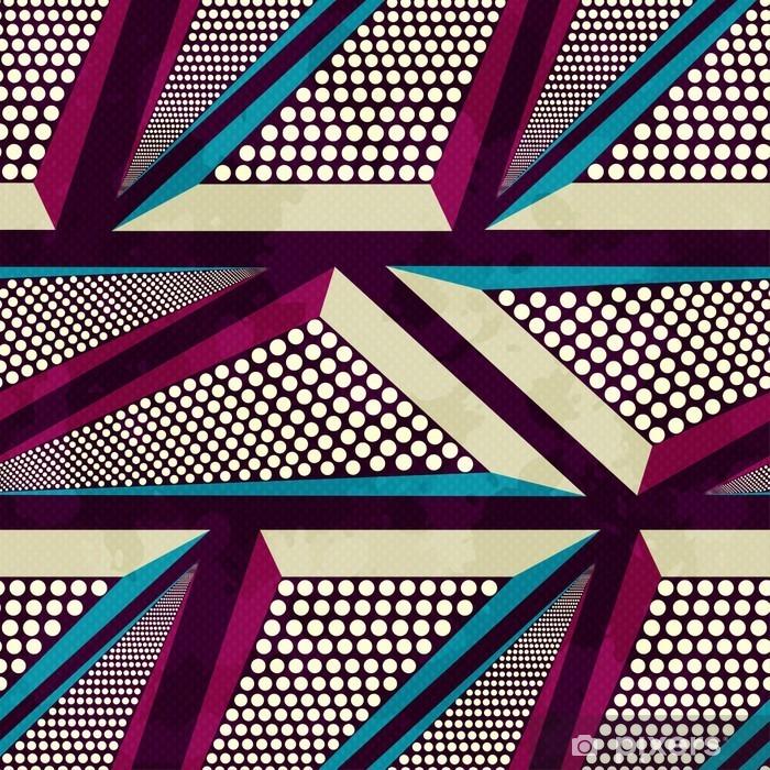 Pixerstick Sticker Grunge gekleurde graffiti naadloze patroon - Grafische Bronnen