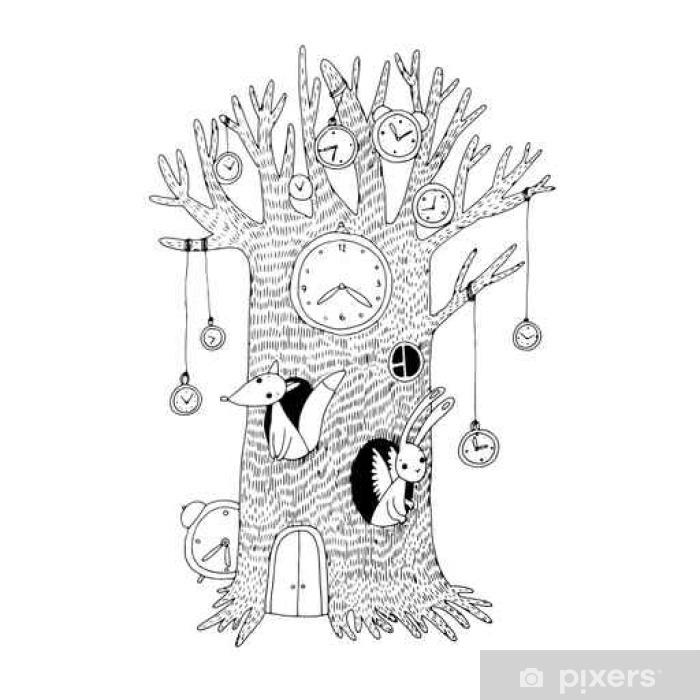 b86501ac0c7 Mural de Parede em Vinil Árvore mágica