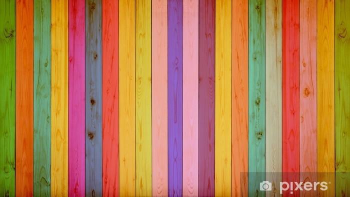 Manta de felpa Fondo de madera colorido vintage - Recursos gráficos